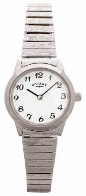 Rotary Womens Expandable Stainless Steel White Dial LB00761