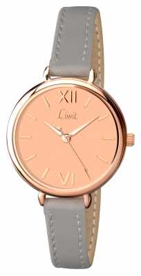 Limit Womens Grey Strap Rose Gold Dial 6071.01