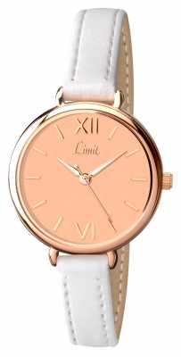 Limit Womens White Strap Rose Gold Dial 6072.01