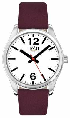 Limit Womens Mauve Wine Strap White Dial 6184.01