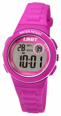 Limit Kids Digital Pink Resin Strap 5584.24