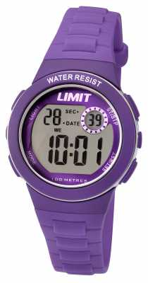 Limit Kids Digital Purple Resin Strap 5585.24