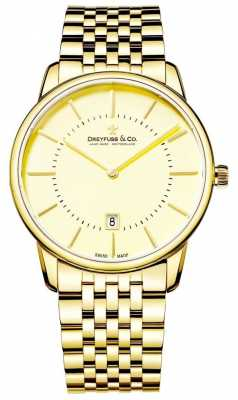 Dreyfuss Mens Gold Bracelet With Date DGB00136/03