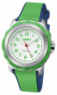 Limit Kids Active Green Resin Strap White Dial 5602.24