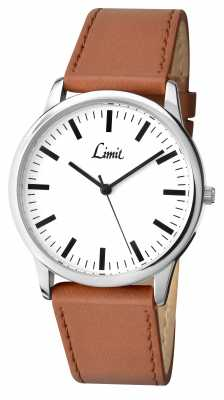 Limit Mens Brown Strap White Dial 5607.35
