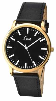 Limit Mens Black Strap Black Dial 5609.35