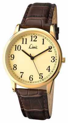 Limit Mens Brown Leather Strap Silver Dial 5610.35