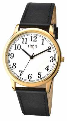 Limit Mens Black Strap White Dial 5615.35