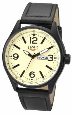 Limit Mens Pilot Black Strap Creamdial 5620.01