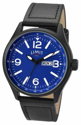 Limit Mens Pilot Black Strap Blue Dial 5622.01