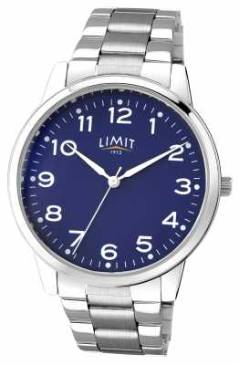 Limit Mens Stainless Steel Blue Dial 5625.01