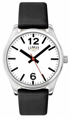Limit Mens Black Strap White Dial 5626.01