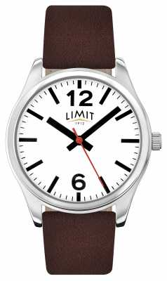 Limit Mens Brown Strap White Dial 5629.01