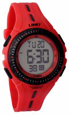 Limit Kids Racing Digital Red Rubber Strap 5392.56