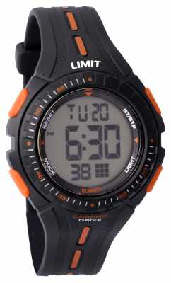 Limit Kids Racing Digital Black Rubber Strap 5393.56