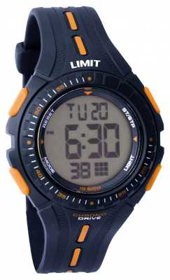 Limit Kids Racing Digital Blue Rubber Strap 5394.56