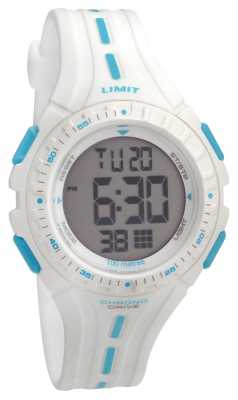 Limit Kids Racing Digital White Rubber Strap 5395.56