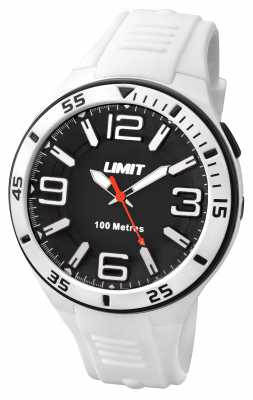 Limit Mens White Strap Black Dial 5566.24