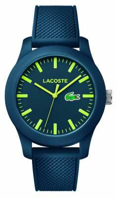 Lacoste Unisex Navy Rubber Strap Navy Dial Green Markers 2010792
