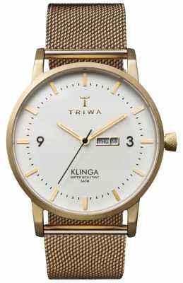 Triwa Unisex Ivory Klinga Gold Mesh Metal Strap KLST103-ME021313