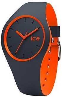 Ice-Watch UNISEX DUO Grey Orange Silicone DUO.OOE.U.S.16