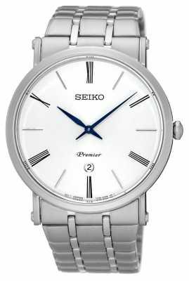 Seiko Mens Premier Perpetual Calendar Stainless SKP391P1
