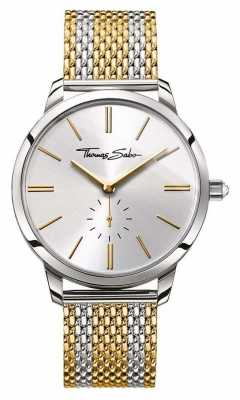 Thomas Sabo Womans Glam Spirit Two Tone Steel Strap Silver Dial WA0272-282-201-33