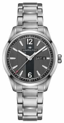 Hamilton Mens Broadway Day Black Dial Steel Strap H43311135