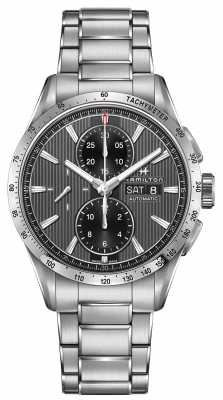 Hamilton Mens Broadway Auto Chronograph Black Dial Steel Strap H43516131