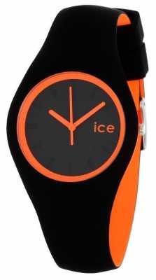 Ice-Watch Unisex Duo Black And Orange Silicone DUO.BKO.U.S