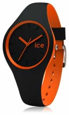 Ice-Watch Unisex Duo Black And Orange Silicone DUO.BKO.U.S