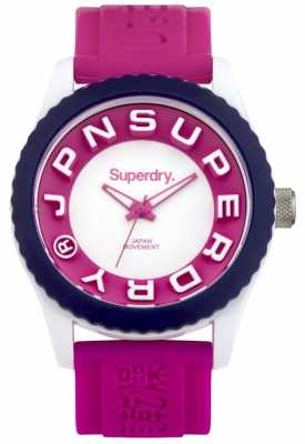 Superdry Womens Tokyo Pink Rubber Strap SYL146PW