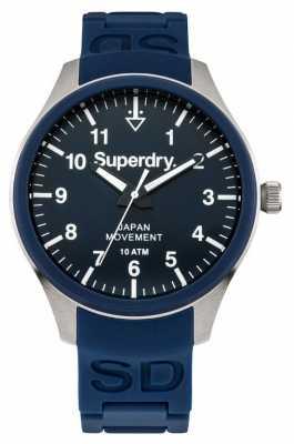 Superdry Mens Scuba Navy Blue Rubber Strap SYG109UG