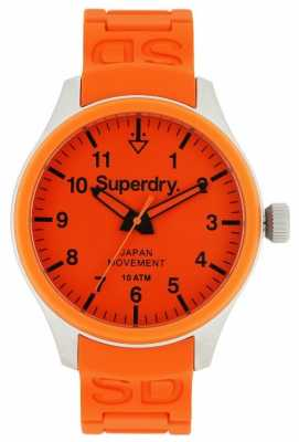 Superdry Mens Scuba Orange Rubber Strap SYG109OG