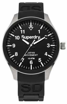 Superdry Mens Scuba Black Rubber Strap SYG109BG