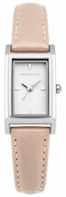 Karen Millen Womens Nude Leather Strap White Dial KM114C