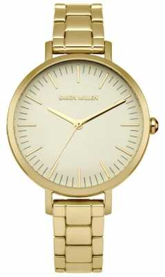 Karen Millen Womens Gold Plated Stainless Steel Gold Dial KM126GM