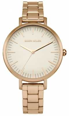 Karen Millen Womens Rose Gold Plated Stainless Steel Rose Gold Dial KM126RGM