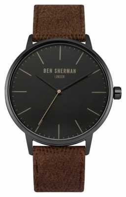 Ben Sherman Mens Portobello Social Brown Fabric Black Dial WB009TB