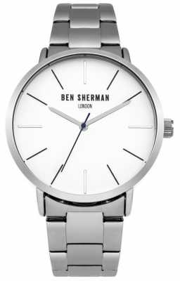 Ben Sherman Mens Stainless Steel White Dial WB054SM