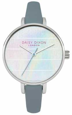 Daisy Dixon Womens Kylie Blue Leather Strap Multicoloured Dial DD024US