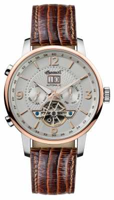 Ingersoll Mens 1892 The Grafton Automatic Brown Leather Strap I00701