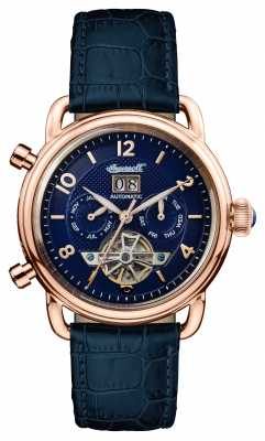 Ingersoll Mens 1892 The New England Blue Leather Blue Dial I00902