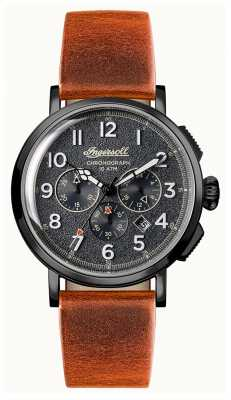 Ingersoll Mens Discovery The St Johns Brown Leather Strap I01702