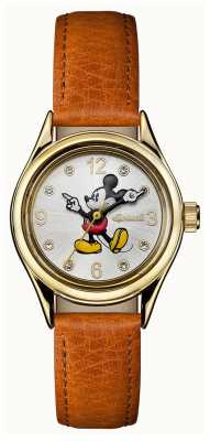 Ingersoll Womens Union The Disney Brown Leather Strap Silver Dial ID00901
