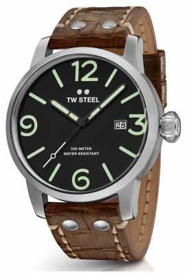 TW Steel Mens Maverick Black Sandwich Dial Chronograph Luminous MS13