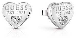 Guess Womans All About Shine Padlock Heart Studs UBE82082