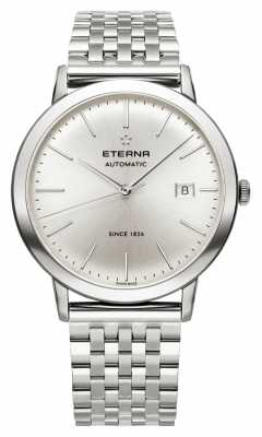 Eterna Mens Eternity Automatic Brushed Silver Dial Steel Strap 2700.41.10.1736