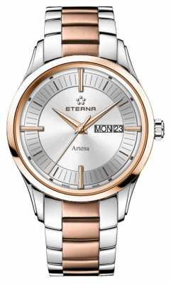 Eterna Mens Eternity Artena Quartz Rose Gold Plated Steel 2525.53.11.1725