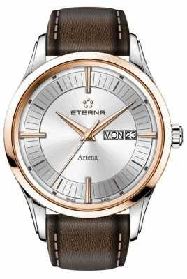 Eterna Mens Eternity Artena Quartz Brown Leather Strap 2525.53.11.1344
